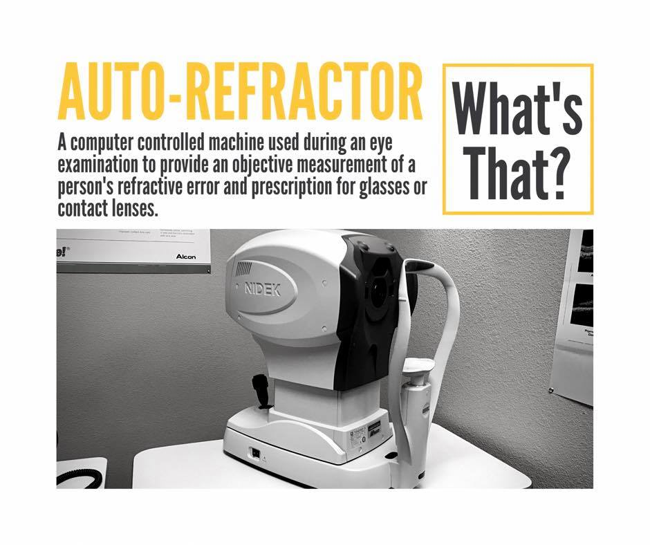 Photo of an auto refractor used during eye exams.